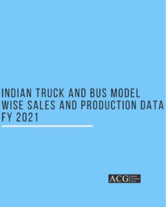 Indian Truck and Bus Model wise Sales and Production Data FY 2021