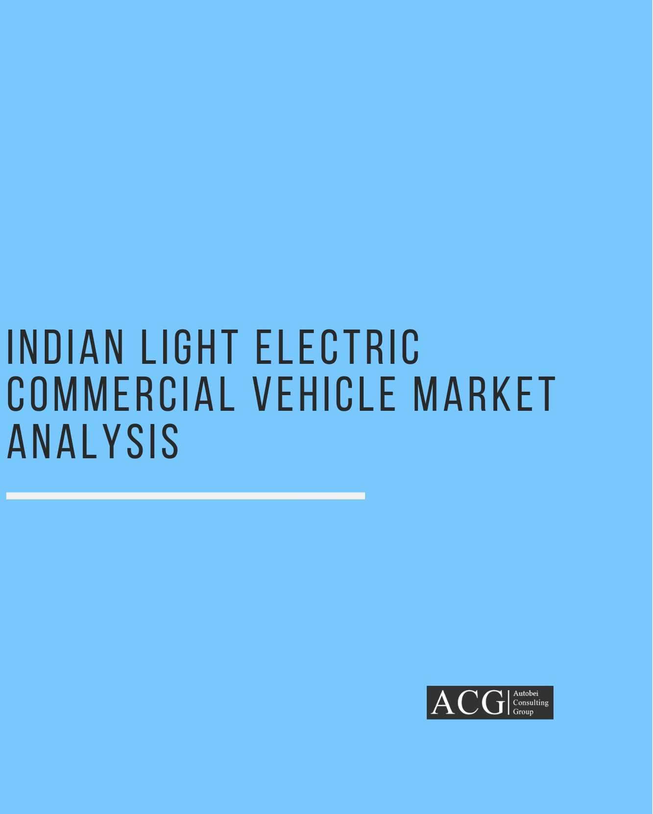 Indian Light Electric Commercial Vehicle Market Analysis